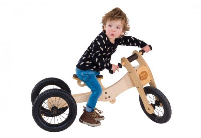 Bicikl bez pedala Trybike - drvena guralica